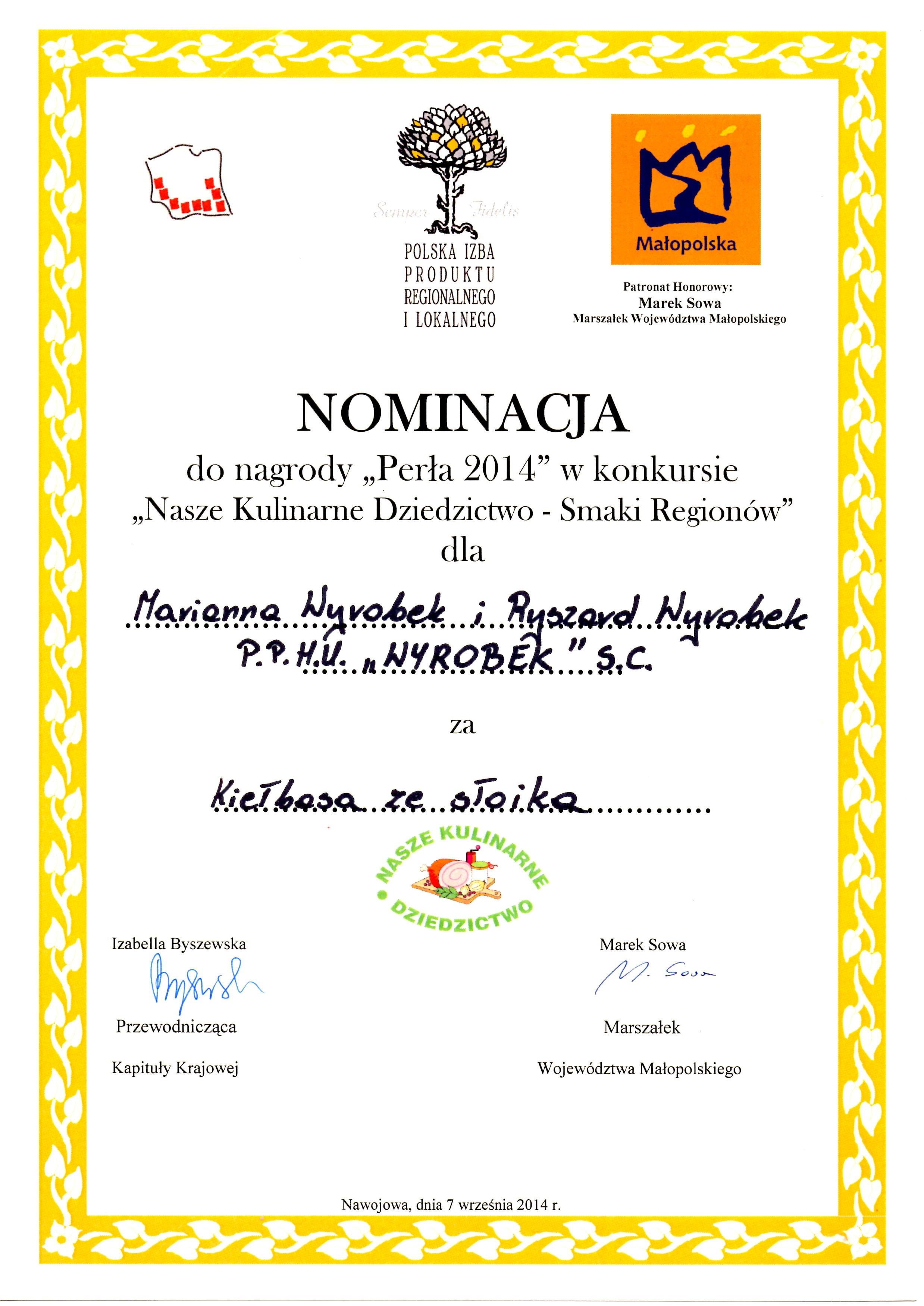 Nasze Kulinarne Dziedzictwo dyplom - dyplom 2.JPG